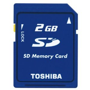 【2GB】 東芝/TOSHIBA SDメモリーカード バルク SD-M02G-BLK