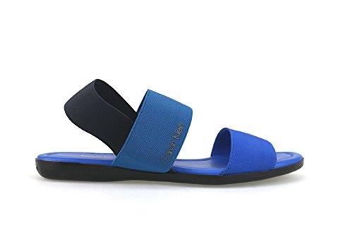 scarpe donna CALVIN KLEIN JEANS sandali blu tessuto AH362 (40 EU)