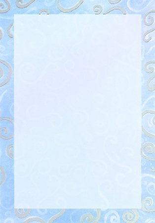 Masterpiece Studios 154404 Blue Swirls Foil Fc Box- Pack of 10 Cards & 10 Envelopes