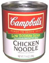 Campbells Ready To Serve Low Sodium Chicken Noodle Soup - 725 oz can 24 per case