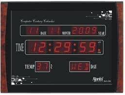 ajanta plastic digital wall clock 396 cm x 296 cm x 31 cm black olc105