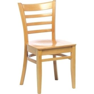 Kitchen / Dining Chairs -Wooden Beech Dining Side Chair Natural Finish (Pack 2) - stylish and robust furniture for your home or business