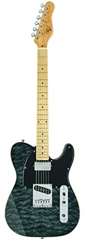 Michael Kelly MK1957BW 1957 Solid-Body Electric Guitar, Black Wash (Telecaster Coil Tap compare prices)