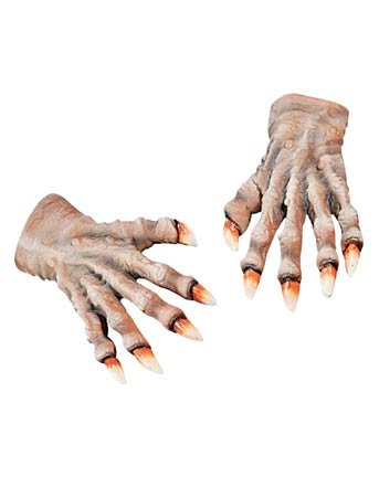 Werewolf Hands Halloween Costume Accessory