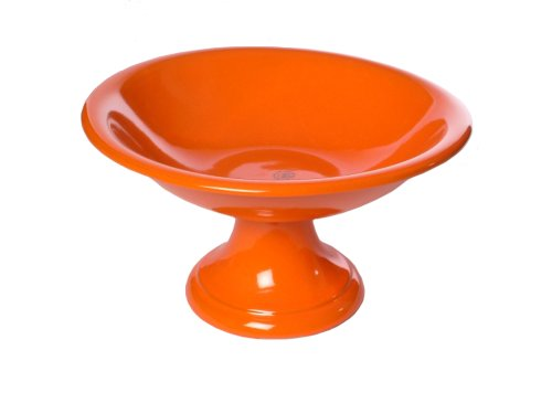 Mamma Ro Pedestal Fruit Bowl, Orange