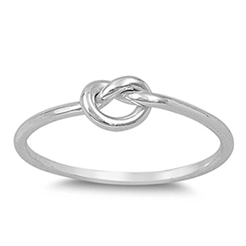 Infinity Knot Love Cute Ring New .925 Sterling Silver Band Size 6 (RNG14788-6)