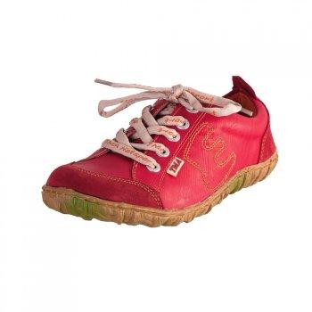TMA EYES 6636 Schnürer Gr.37-42 mit bequemen perforiertem Fußbett 100% Leder 39.35 super leichter Schuh der neuen Saison. ATMUNGSAKTIV in Rot Gr.37