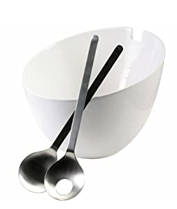 Steel-Function Salad Bowl - with Servers