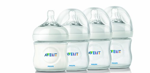 Philips AVENT Natural Polypropylene Bottle Clear 4 Ounce 4 Count