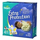 Pampers Extra Protection Original Diapers - Size 4 - 26 ct