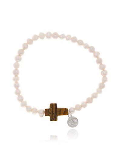 Alexandra Plata Pulsera Cross
