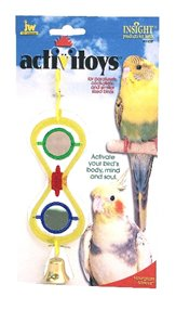 Cheap JW Pet Company 080-31032 JW Pet Company Insight Hour Glass Mirror Small Bird Toy Assorted Colors (080-31032)