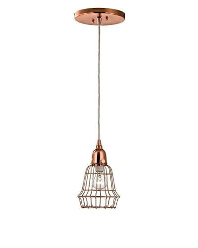 Artistic Lighting Barell Copper Wire 1-Light Pendant, Copper