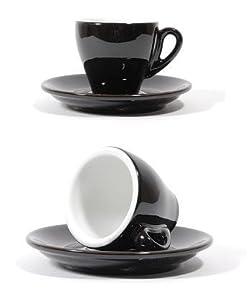 Milano Black Espresso Cups - Set of 6 - Original By Nuova Point Italy