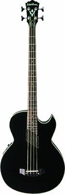 Washburn AB10BK Acoustic / Electric Bass Guitar - Black