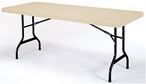 Lifetime 6-Foot Utility Table with 72-by-30-Inch Molded Top AlmondB0006D50RO