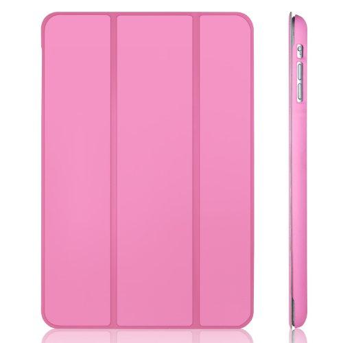 JETech® Gold Slim-Fit Folio Smart Case Cover per Apple iPad Mini e New iPad Mini con Retina Display (Seconda Generazione) con Auto Funzione Sonno/Veglia - rosa