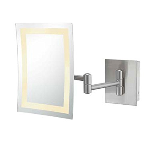 Kimball & Young 91283Hw Single-Sided Hardwired Led Square Wall Mirror, Qpolished Nickel front-377925