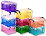 Advanced REALLY USEFUL PRODUCTS LTD - 0.3PK10ASS - BOXES, ASSORTED, 65X85X120MM - Pack of 10 - Min 3yr Cleva Warranty