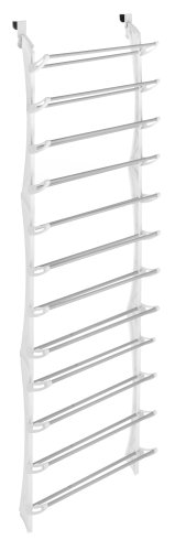 Whitmor Over-The-Door Shoe Rack, White, 36-Pair
