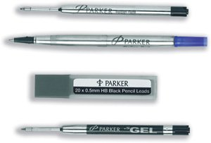 Parker Refill Gel Ball Pen Medium Black Ref S0881260 [Pack 12]