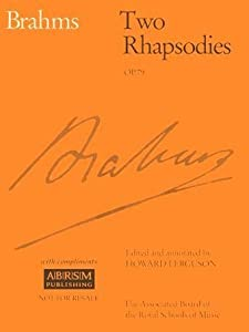 Two Rhapsodies Op 79 Signature from Associated Board of the Royal Schools of Music