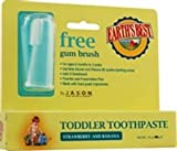 Jason Natural, Earth's Best, Toddler Toothpaste, Free Gum Brush, Strawberry and Banana, 50g