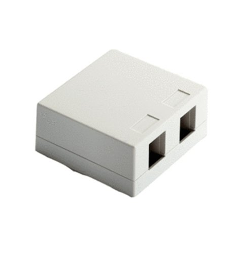 Onq / Legrand Wp3502Wh Surface Mount Box 2Port, White