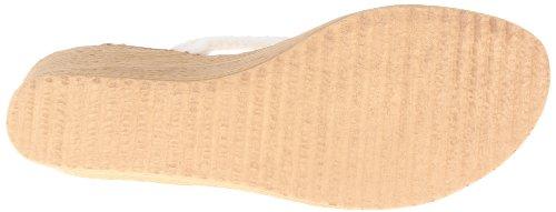 Sbicca Women's Jewel Wedge Sandal,White,7 B US