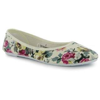 Miss Fiori Ladies Print Ballet Shoes