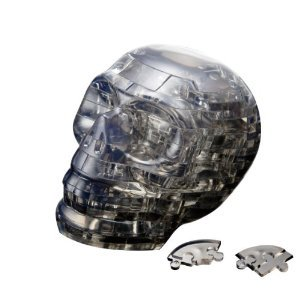 Picture of Beverly Enterprises CRYSTAL PUZZLE Black Skull 50128 (B0049W3C32) (Pegged Puzzles)