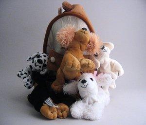 Plush stuffed animal house dog house Unipak Designs