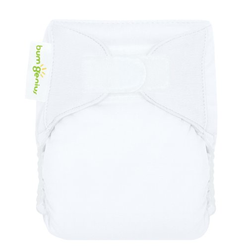 Bumgenius All-In-One Deluxe Cloth Diaper White Xs front-577046