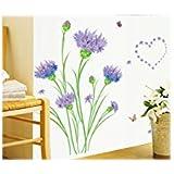 Decals Arts 3D Purple Carnations Vinyl Wall Sticker