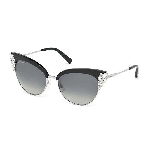 Occhiali da sole DSquared2 Lou Lou DQ0200 C58 01B (shiny black / gradient smoke)