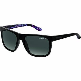 Arnette Mens Fire Drill AN4143-32 Polarized Rectangular Sunglasses,Black,59 mm by Arnette