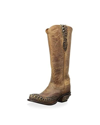 Lucchese Women's Mad Dog Stud Boot  [Pearl]
