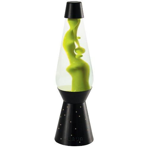 Lava Lite 6812 Heritage Collection 27-Inch Neon Grande Lava Lamp With Black Base, Neon Green Wax/Clear Liquid front-940750