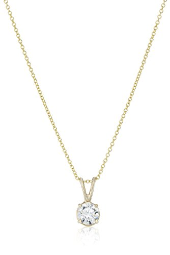 IGI-Certified-14k-Yellow-Gold-Round-Cut-Diamond-Pendant-Necklace-075-cttw-H-I-Color-I1-Clarity-18