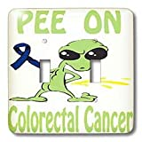 Blonde Designs Cause Awareness Designs Pee On Alien - Super Funny Peeing Alien Supporting Causes For Colorectal Cancer - Light Switch Covers - double toggle switch