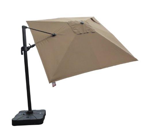 Nice Pic of STRONG CAMEL 10'X10'Cantilever Patio Umbrella Garden Outdoor  Sunshade Market With SUNBRELLA Farbric-COCOA - Everything Seems To Be FINE STRONG CAMEL 10'X10'Cantilever Patio