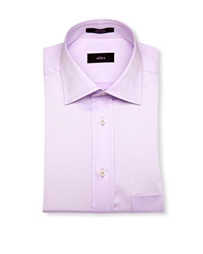 Alara Men's Twill Modern Spread Collar Classic Fit Dress Shirt