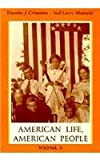 img - for American Life, American People, Volume II book / textbook / text book