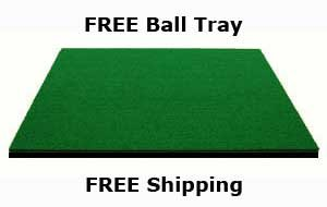 4' x 5' Dura-Pro Plus PREMIUM Commercial Golf Mat FREE Golf Ball Tray, FREE Balls AND FREE Tees With Every Order- FREE SHIPPING - 8 Year Warranty - Dura-Pro Golf Mats Make All Other Golf Mats Obsolete! Family Owned And Operated Since 1997 - Dura-Pro Golf