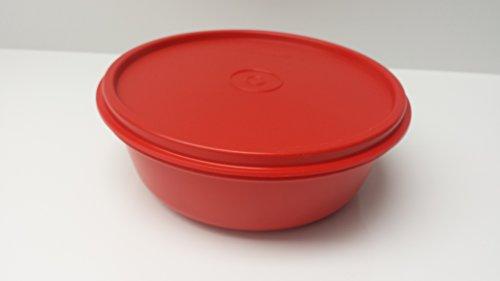 Tupperware rund Brotdose Brotbox Große Hitparade auslaufsicher Dose mit Deckel rot 600ml