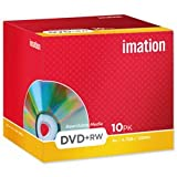 Brand New. Imation DVD+RW Rewritable Disk Cased 4x Speed 120min 4.7Gb Ref 19008 [Pack 10]