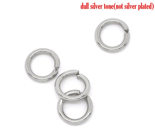 500 X STAINLESS STEEL OPEN JUMP RINGS 5 MM