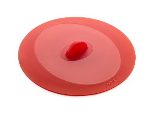 Lékué Couvercle Hermétique Rond Silicone Platine 17 cm Rouge Tools