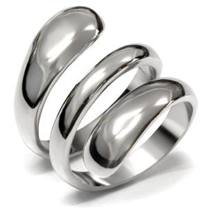 Stainless Steel Never Fade Simple Wrap Fashion Ring