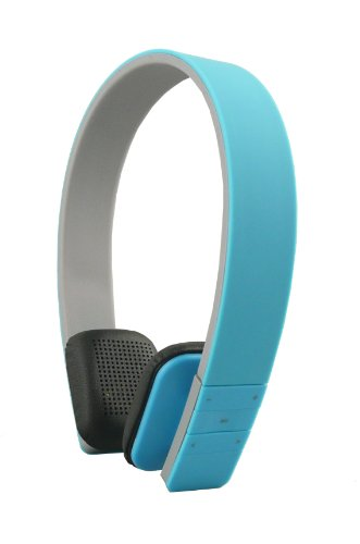Emartbuy® SleekWave Bluetooth Alta Definizione Cuffie Stereo Senza Fili in Blu con il Microfono Incorporato e Remote Per ARK Benefit A1 / ARK Benefit A3 / ARK Benefit S451 Smartphone
